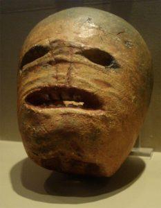 nabo antiguo tallado de Samhain y  conservado